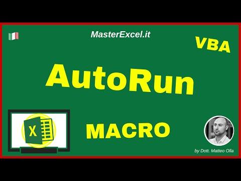 MasterExcel.it | Attivazione Macro in AutoRun - Come Attivare una Macro Aprendo il Foglio Excel