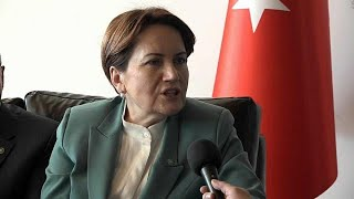 """No debate anymore in Turkey"" says opposition leader Aksener"