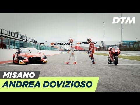 Andrea Dovizioso changes from 2 to 4 wheels | DTM Misano 2019