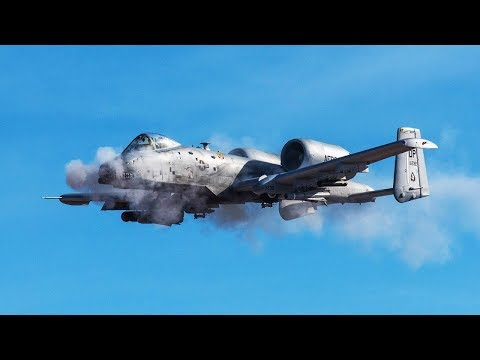 Awesome A-10 Warthog in Action / Practice Targeting Unmanned Moving Targets