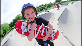 FATHER SON SKATEBOARDING! /New Smaller Board For Kids!