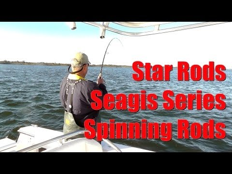 LIGHT TACKLE Fishing Tackle Review STAR RODS Seagis Series Spinning Rod in Action