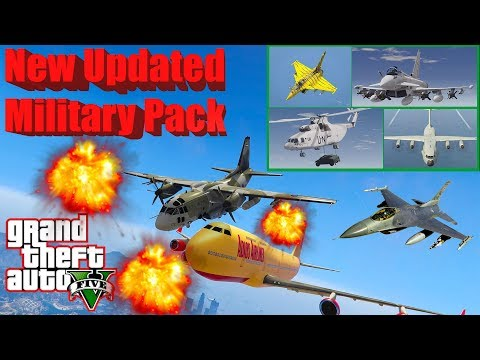 GTA V: New Updated Military Vehicles Airplanes Helicopters Best Longer Crash And Fail Compilation