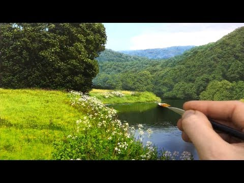 timelapse landscape oil painting by michael james smith