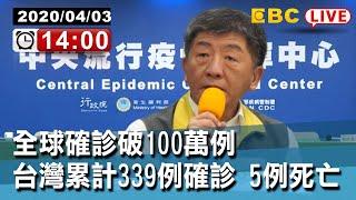 【東森大直播】全球確診破100萬例 死亡人數超過5萬 台灣累計339例確診 5例死亡