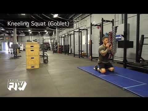 Kneeling Goblet Squat