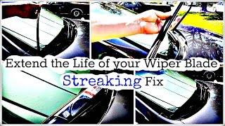 Honda Windshield Wiper Blade Streak Problem Fix