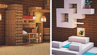 5 Unique Bed Designs In Minecraft! (1.15 Building Tips And Tricks)