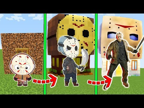 CICLO DE VIDA EVOLUÇÃO DA CASA DO JASON no MINECRAFT!!!