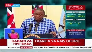 CRB listings temporarily suspended effective April | President Uhuru\'s address