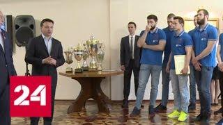 Губернатор Подмосковья подарил чеховским спортсмена автобус - Россия 24