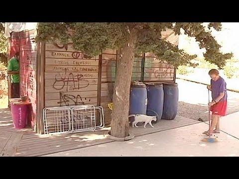 Άστεγοι στη σκιά της Ακρόπολης