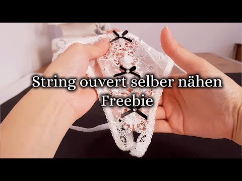 String ouvert selber nähen - kostenloses Schnittmuster