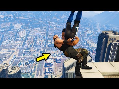 BEST GTA 5 WWE MOVES COMPILATION (Best WWE Ragdoll Sells!)