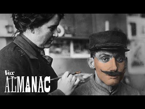 Obličejové protézy z 1. světové války - Vox