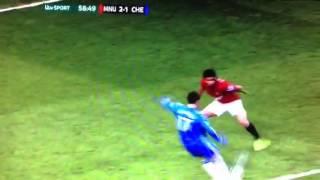 Man United Vs Chelsea Fc 21  Hazards Goal 10/03/13