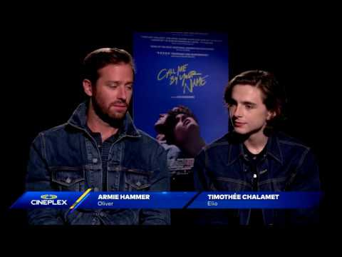 Timothee Chalamet and Armie Hammer on Call Me By Your Name at TIFF 2017
