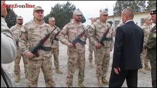 Minister obrany Peter Gajdoš sa v Seredi slávnostne rozlúčil s vojakmi odchádzajúcimi do Iraku