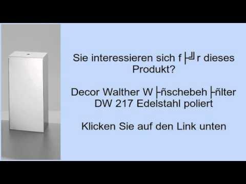 Decor Walther Wäschebehälter DW 217 Edelstahl poliert