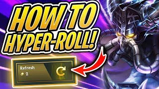 How to GET EASY WINS in TFT! Hyper-Rolling Strategy | Teamfight Tactics | LoL Auto Chess