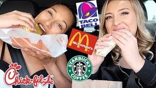 LETTING THE PERSON IN FRONT OF US DECIDE WHAT WE EAT FOR 24 HOURS! | Jessie Sims