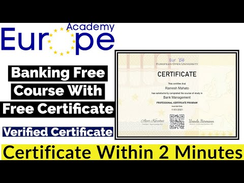 Banking Free Course With Free Certificate | Free Certificate ...