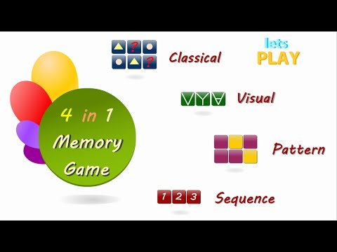 Video of Memory Game For Adults.