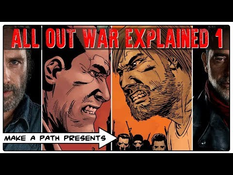ALL OUT WAR EXPLAINED PART 1 - The Walking Dead Comic
