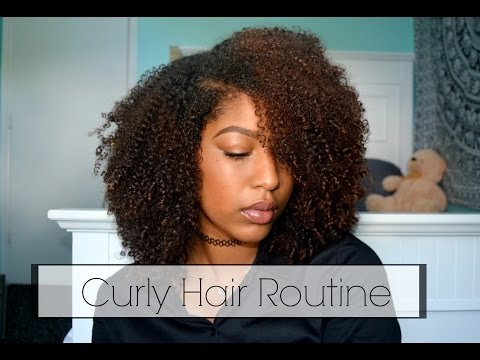 Video NATURAL CURLY HAIR ROUTINE!!