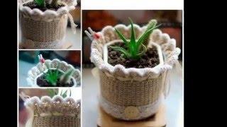 Идеи для вдохновления  Как украсить цветочные горшки