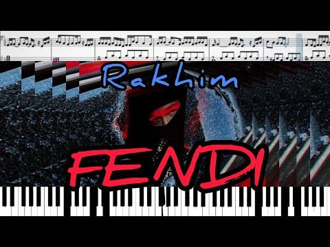 Рахим Абрамов - Fendi (на пианино + ноты)