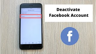 How to Deactivate Facebook Account on iPhone (2020)