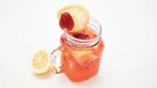สูตรเครื่องดื่ม Strawberry Lemon Soda สดชื่น คลายร้อน