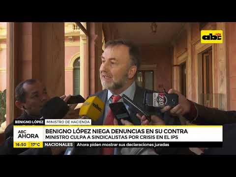 Benigno López niega denuncias en su contra