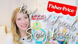 FISHER PRICE RAINFOREST FRIENDS TAKE-A-LONG SWING & SEAT REVIEW | #AD
