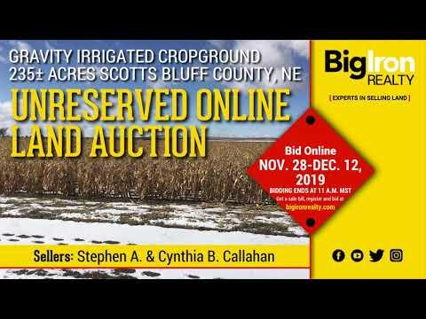Land Auction 235+/- Acres Scotts Bluff County, Nebraska