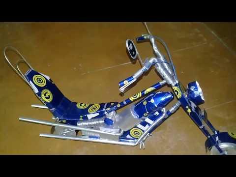 Moto Harley!!! Hecha de Latas de Aluminio.