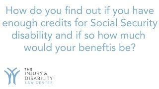 How do you know if you have enough credits for Social Security disability?