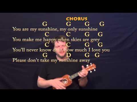 You Are My Sunshine Ukulele Cover Lesson With Chords Lyrics