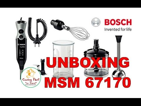 UNBOXING DE LA BATIDORA Bosch MSM67170