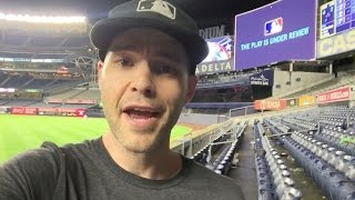 Yankee Stadium crazy-empty at 2:38am after a long rain delay