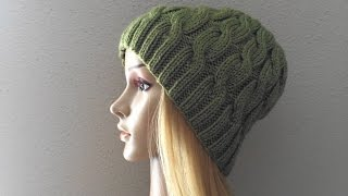How To Knit A Cable Hat, Lilu's Handmade Corner Video # 6