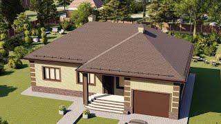 Проект дома 154-B, Площадь дома: 154 м2, Размер дома:  15,8x16,9 м
