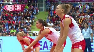ไทย vs ตุรกี   วอลเลย์บอลหญิง เวิลด์กรังด์ปรีซ์ 2017 [22 ก.ค. 2560] #WGP2017 - dooclip.me