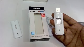 Unboxing D-Link Wireless Data Card USB Dongle (DWP-157)