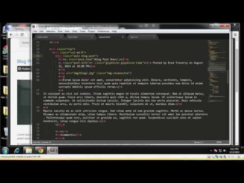 Learn how to build a Blog website using Twitter Bootstrap Part 6