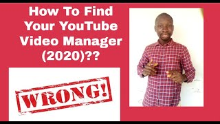 How To Find Your YouTube Video Manager (2020) ⭐⭐⭐⭐⭐🔭