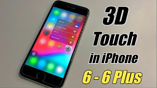 3D Touch in iPhone 6  🔥🔥