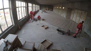 350м2 плитки  за три дня укладка плитки на пол мастер класс (технологии командной работы)