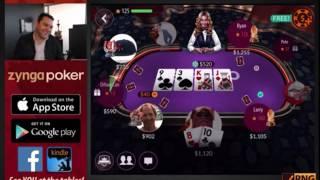 ZyngaPoker From 1000$ to 0$ AAAQQ vs QQQAA FULLHOUSE